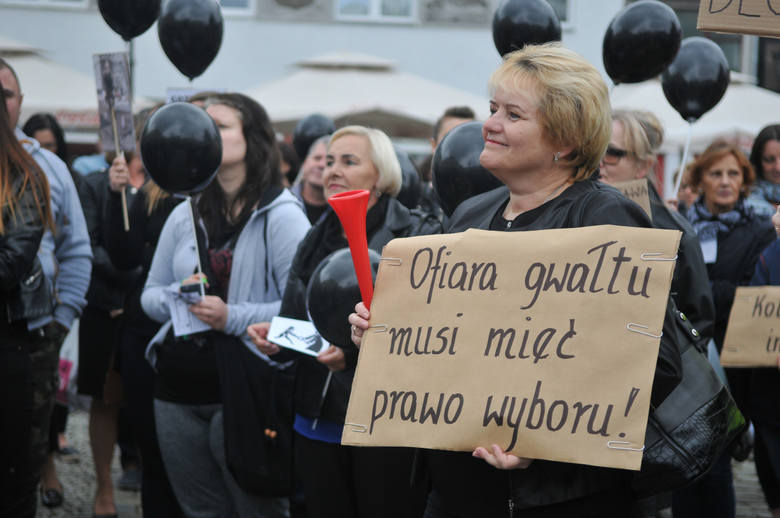 czarny protest w Gorzowie