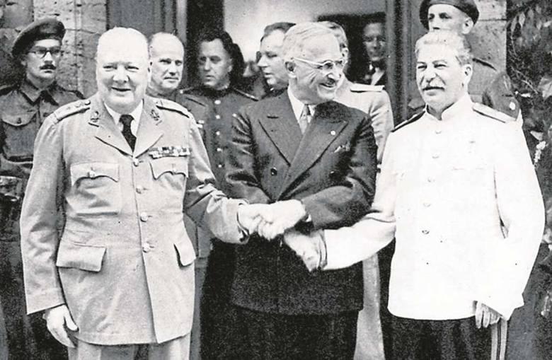 Wielka trójka w Poczdamie: Churchill, Truman i Stalin. Interesy Polaków liczyły się tam w najmniejszym stopniu