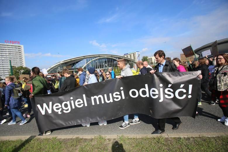 Katowice - młodzieżowy strajk klimatyczny.