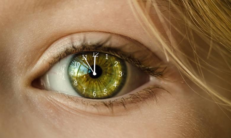 zmiana czasu, zegar biologiczny, rytm okołodobowy, oko, biorytm