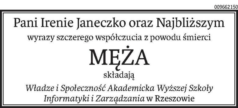 Nekrologi i Kondolencje z dnia 21 kwietnia 2020 roku