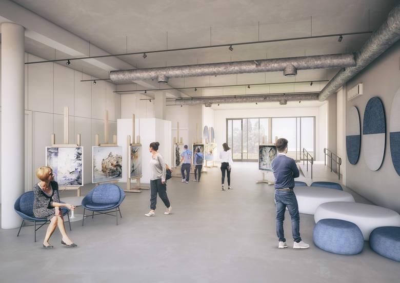 W projekcie przy Al. Marcinkowskiego 28 przewidziano około 380 m2 przestrzeni ogólnodostępnych dla zwiedzających oraz ponad 570 m2 przestrzeni warsztatowej