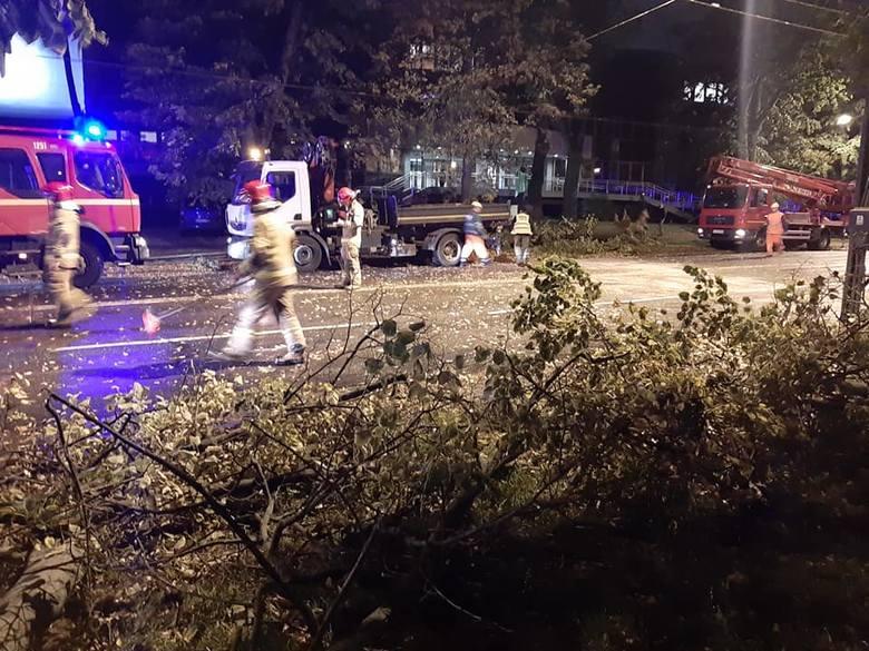 Silny wiatr w Lublinie i regionie. Strażacy interweniowali 412 razy