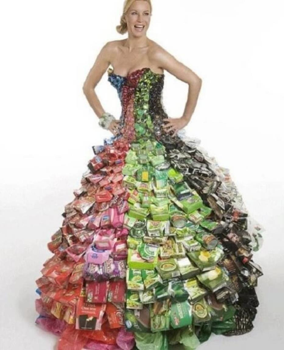 Как сделать платье из подручных материалов поэтапно