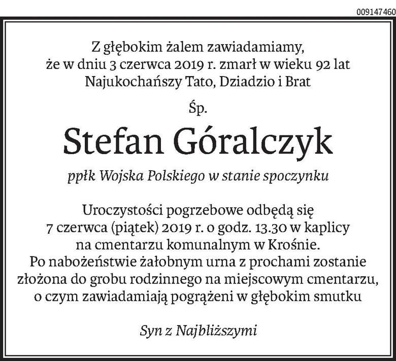 Nekrologi i kondolencje z dnia 6 czerwiec 2019 roku