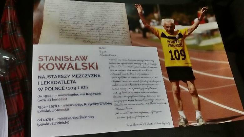 Stanisław Kowalski, który mieszkał w powiecie koneckim, ma 109 lat. Jest najstarszym biegaczem w Europie i być może na świecie [ZDJĘCIA]