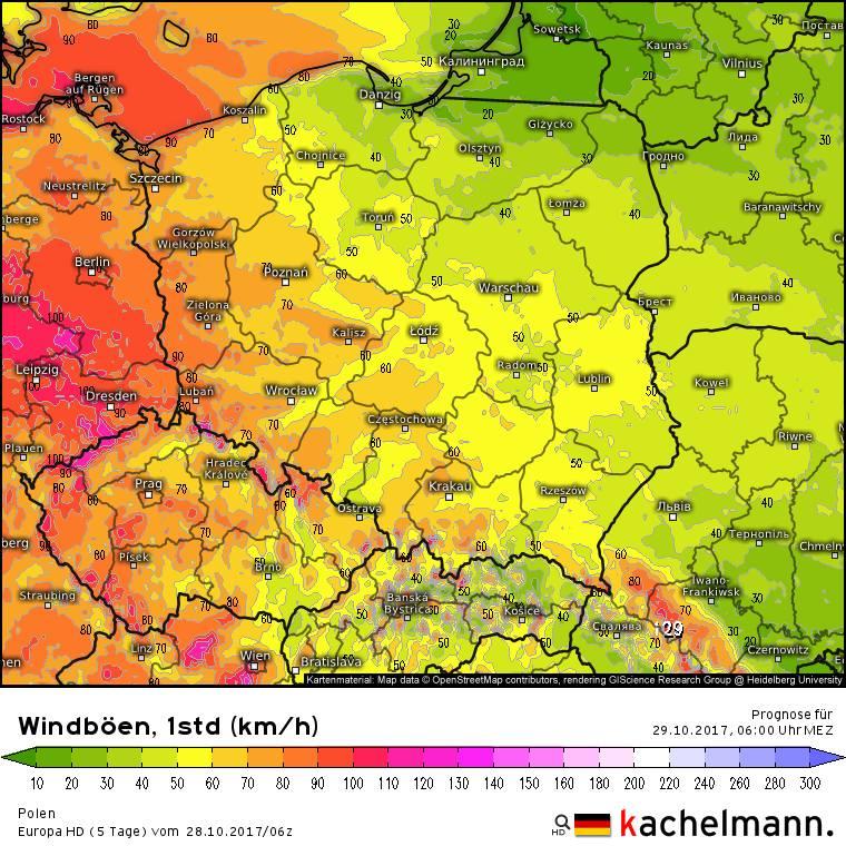 Orkan Grzegorz Jak Przejdzie Przez Polske Mapy Prognoza