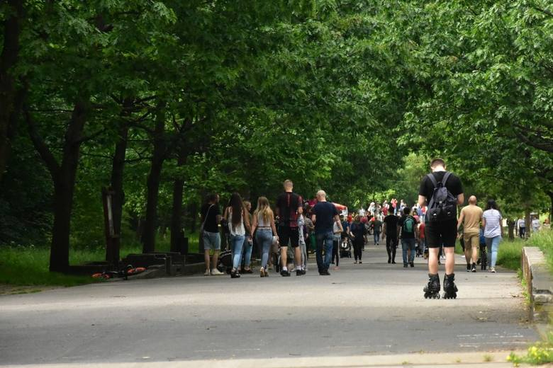 W parku na Zdrowiu.