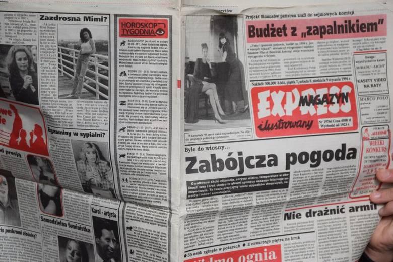 """Sięgnęliśmy do wydania """"Expressu Ilustrowanego"""" sprzed dokładnie...25 lat. Zobaczcie, co się działo w Łodzi i na świecie w styczniu"""