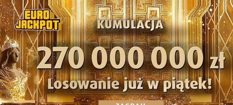 EUROJACKPOT WYNIKI 26.04.2019. Eurojackpot Lotto losowanie 26 kwietnia 2019. Do wygrania jest 270 mln zł! [wyniki, numery, zasady]
