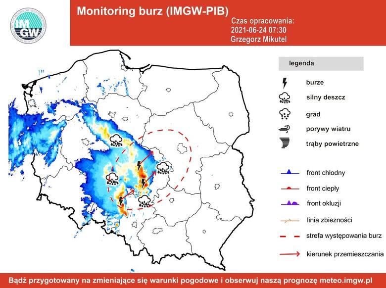 Burze z gradem w Łódzkiem. Wydano ostrzeżenie meteorologiczne dla całego regionu. Może być niebezpiecznie