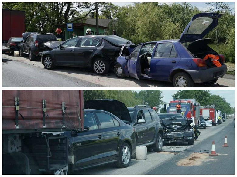 Wypadek w Jaksiczkach koło Inowrocławia.