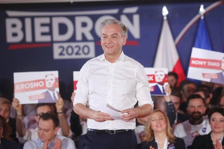 Robert Biedroń na swojej konwencji wyborczej, 1 marca 2020 r., Warszawa.