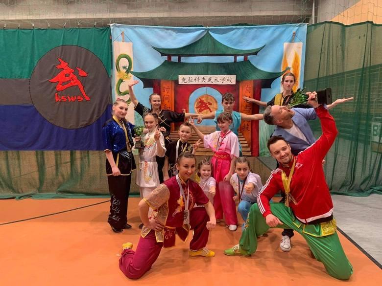 17 medali ekipy Krakowskiej Szkoły Wushu w XXIV Otwartym Pucharze Polski