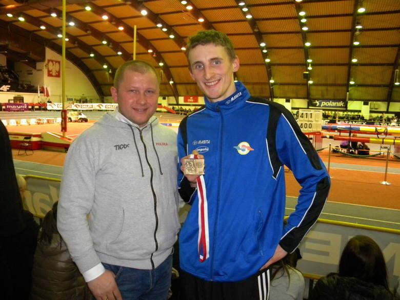 Zbigniew Lewkowicz (trener kadry paraolimpijskiej) i Maciej Lepiato po paraolimpiadzie w Londynie gdzie Lepiato zdobył złoty medal i ustanowił nowy rekord