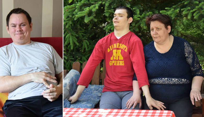 Krystyna Kielar z Jodłowki w gm. Pruchnik ze swoim niepełnosprawnym synem Kamilem mieszkają w fatalnych warunkach.