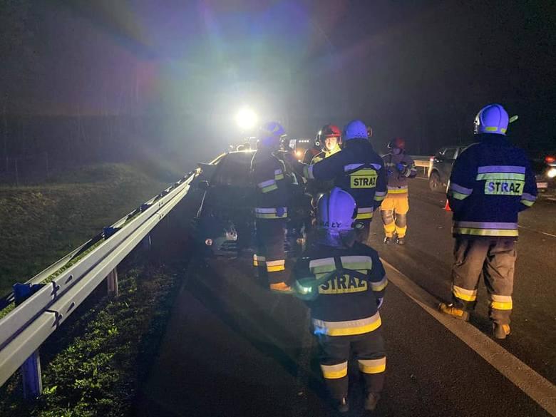 Wypadek na trasie wylotowej z Bydgoszczy w kierunku Inowrocławia przed węzłem Bydgoszcz - Południe.