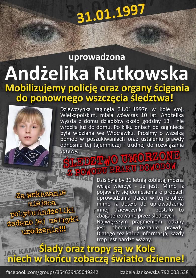 Koło: 21 lat temu zaginęła Andżelika Rutkowska. Rodzina i policja nadal jej szukają
