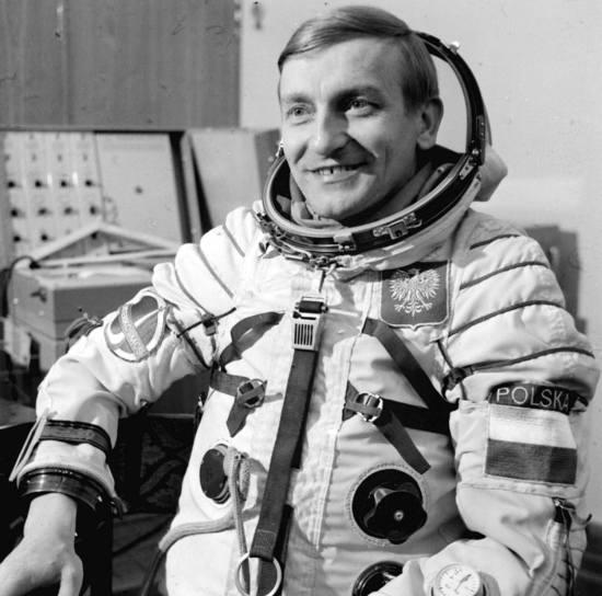 Rok 1978. Kosmonauta Mirosław Hermaszewski.