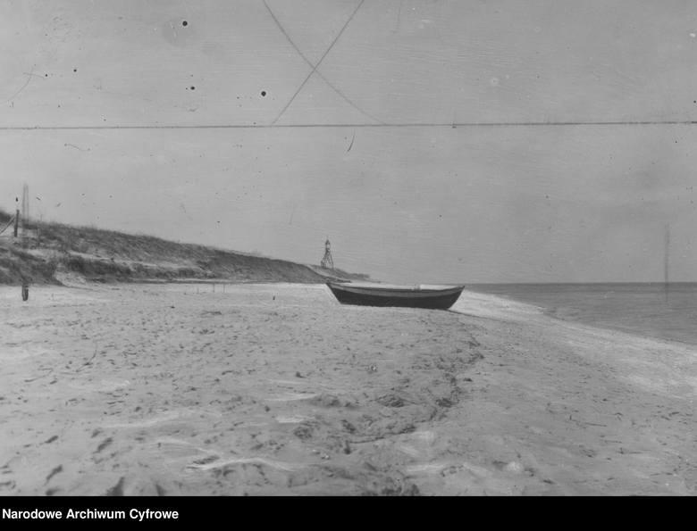 Hel, 1919-1932 Fragment wybrzeża przy Helu.