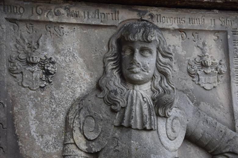 Jeden z pomników w lapidarium w Bytomiu Odrzańskim