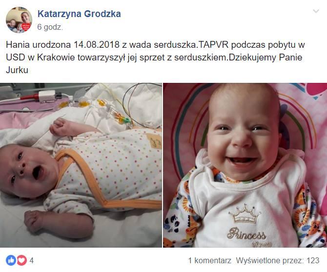 Rodzice, wdzięczni za okazaną pomoc, chcą przekonać Jurka Orsiaka do powrotu do WOŚP.