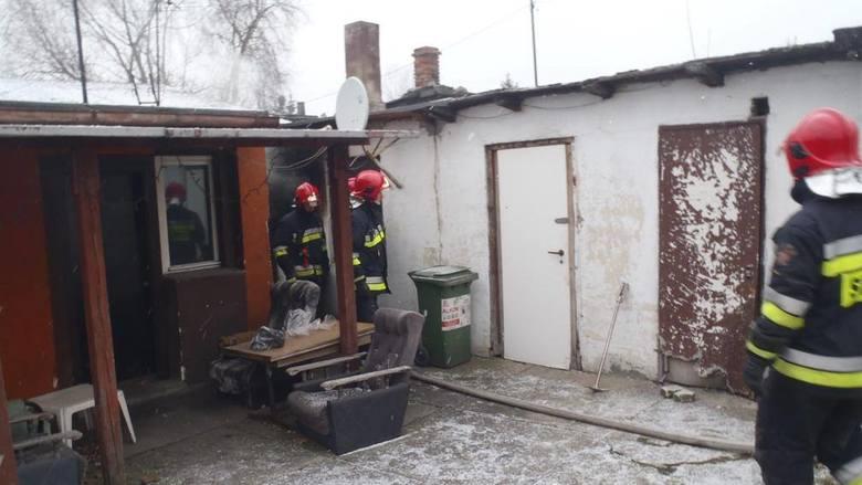 We wtorek strażnicy zauważyli kłęby dymu wydobywające się z altany na działkach przy ul. Warszawskiej
