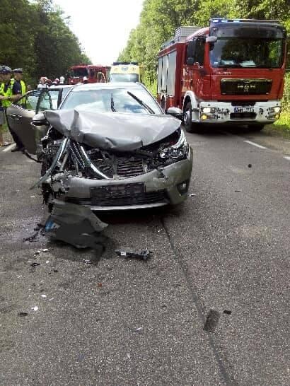 Chraboły. Wypadek zablokował dk65. Karambol na pięć samochodów