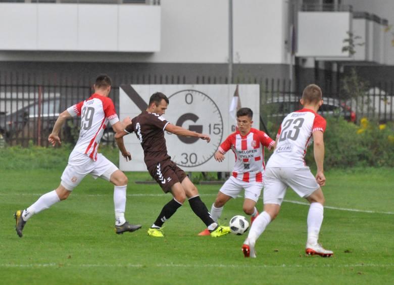5.10.2019, Garbarnia - Resovia: Jurkowski drugi z lewej