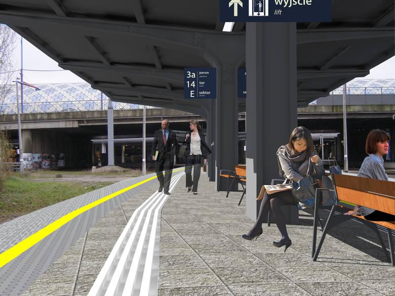 Wizualizacje nowego peronu