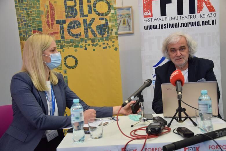Konferencja prasowa na temat Kozzi Film Festiwal 2021 w biblioteka Norwida - 2 czerwca 2021 roku