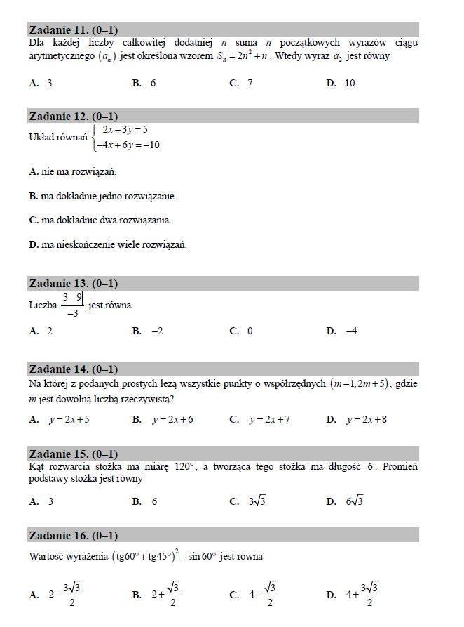 Matura poprawkowa z matematyki 2016. Odpowiedzi i arkusze w serwisie EDUKACJA