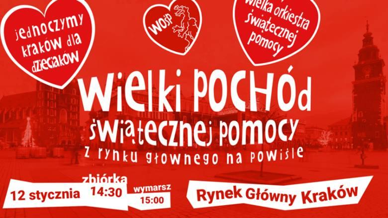 WOŚP 2020 w Krakowie. Czas na wielki Finał. Kraków zjednoczy się dla dzieciaków [PROGRAM]