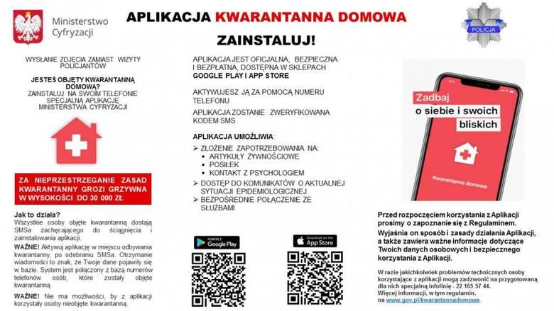 Koronawirus. Informacja dla osób poddanych obowiązkowej kwarantannie domowej