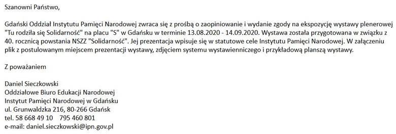 Spór gdańskiego IPN-u z władzami miasta o wystawę historyczną na Placu Solidarności