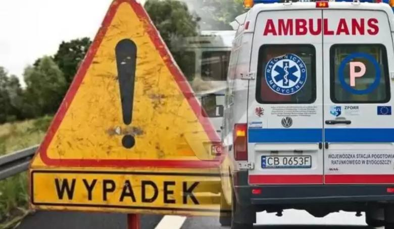 Wypadek koło Stargardu. Droga zablokowana, 8 osób rannych