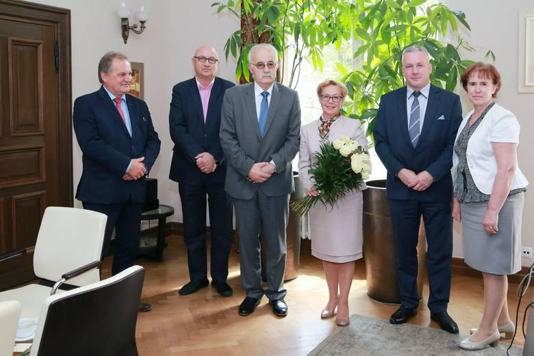 Uroczyste pożegnanie byłej już prezes Sądu Apelacyjnego w Gdańsku, Anny Skupnej