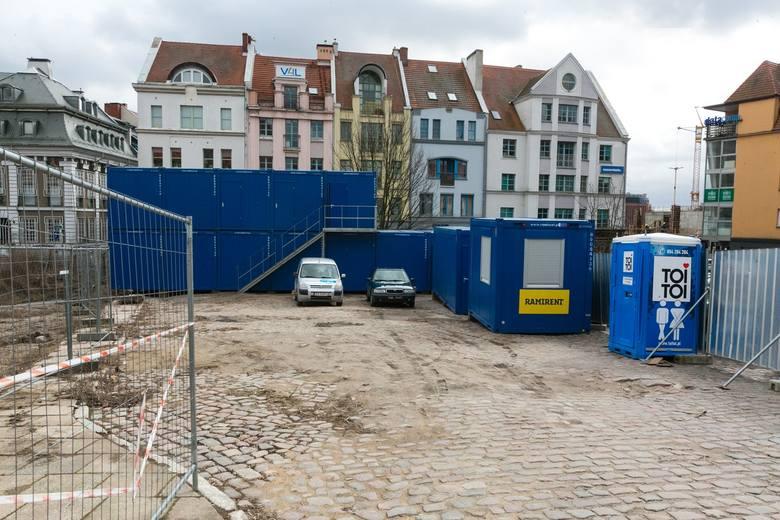 Hotel Arkona w Szczecinie. Ruszyła budowa na Podzamczu. Widać pierwsze efekty [ZDJĘCIA]
