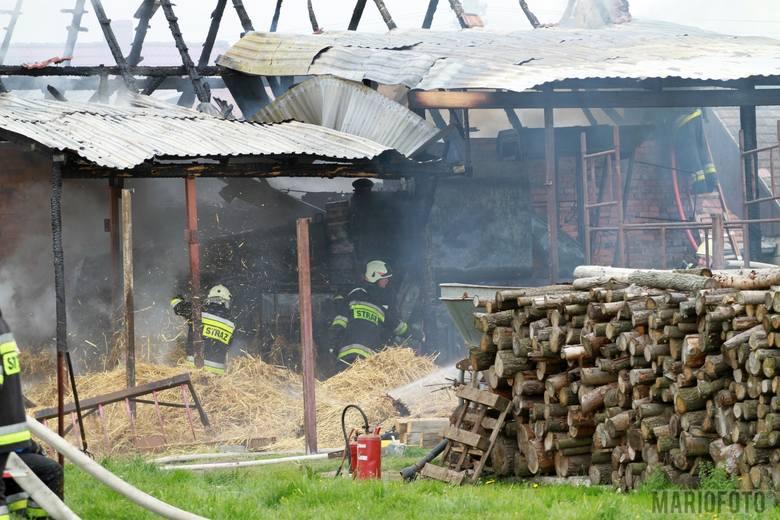 Pożar stodoły i chlewni w Kotorzu Małym.