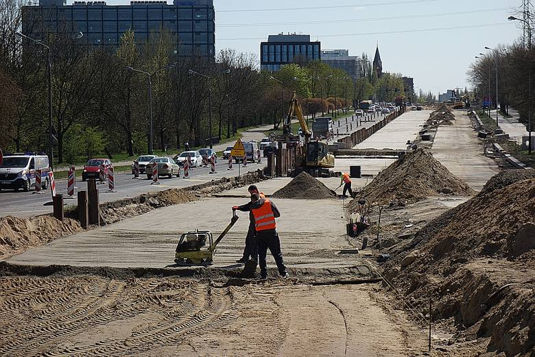 Remont Śmigłego-Rydza. Jak postępują prace? Odwiedziliśmy plac budowy. Zobacz najnowsze zdjęcia 23.04.2020