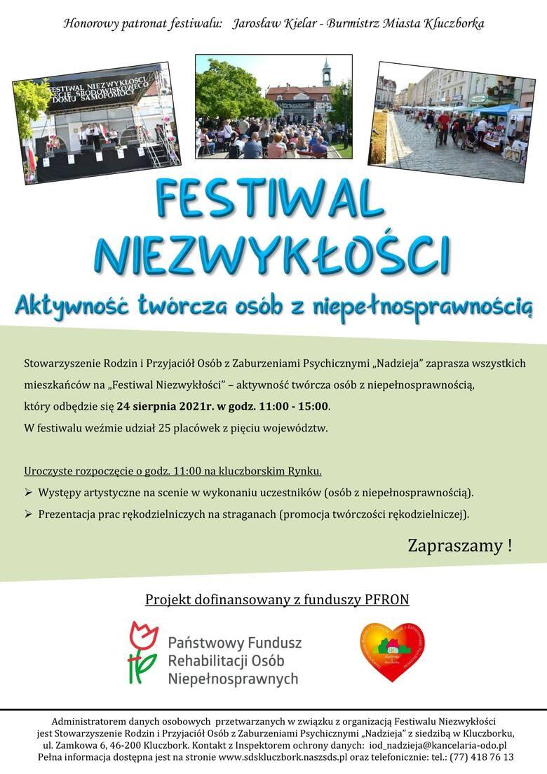 Festiwal Niezwykłości 2021 w Kluczborku