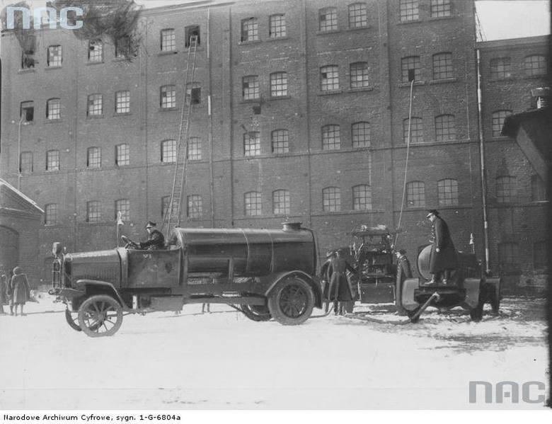 Beczkowóz straży pożarnej w Łodzi, 1932 rok