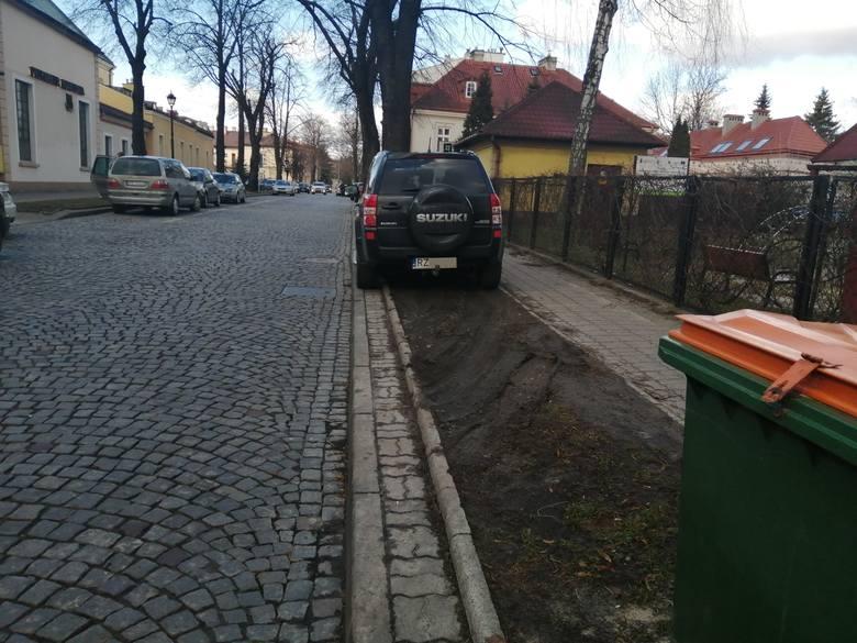 Ulice Reformacka, Hetmańska i Staszica, plac Śreniawitów, okolice szpitala przy ul. Lwowskiej, a także niemal wszystkie podwórka na osiedlach mieszkaniowych.