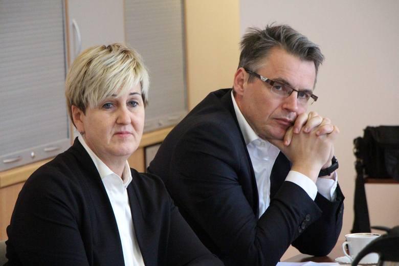 Wiceprezydent Zielonej Góry Wioleta Haręźlak, prezydent Janusz Kubicki.