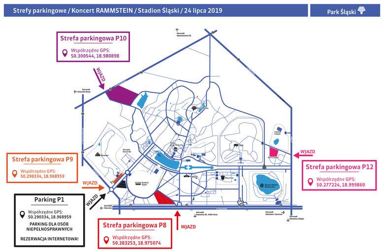 Koncert Rammstein w Chorzowie. Parkowanie. Miejsca, ceny, rezerwacje. Gdzie zostawić auto 24 lipca 2019