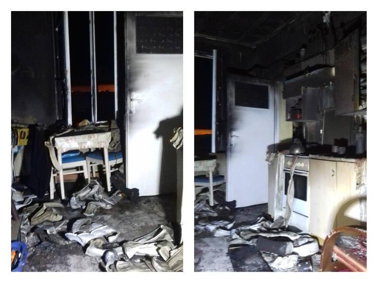 Do tragicznego pożaru doszło po północy w Tucholi.  Pomimo reanimacji dwie osoby nie żyją.Szczegóły na kolejnych zdjęciach >>>>>>Flesz