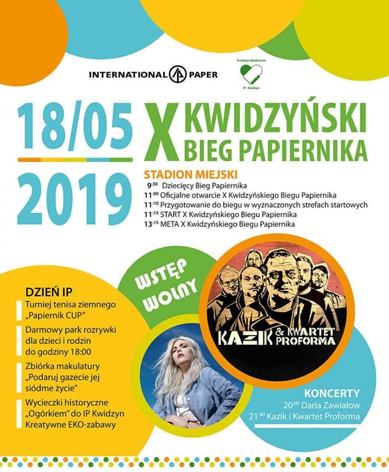 Kwidzyński Bieg Papiernika 2019. Kiedy święto wszystkich biegaczy? Data. Program, trasa biegu, koncerty. WYNIKI, ZDJĘCIA