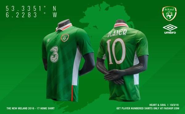 8e55bbead Koszulki reprezentacji Irlandii – producentem strojów jest firma Umbro.