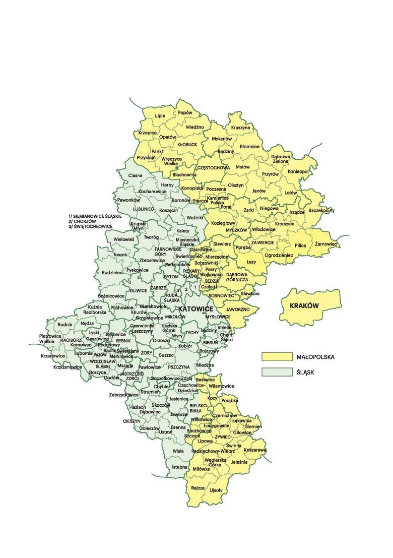 Województwo śląskie, a dominuje w nim Małopolska. Ale w nazwie jej nie ma