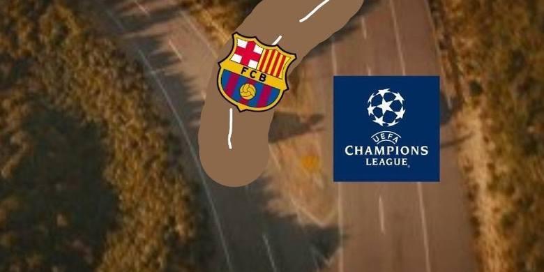 Memy po meczu Barcelona - PSG: Tak się wraca na autostradę! [GALERIA]